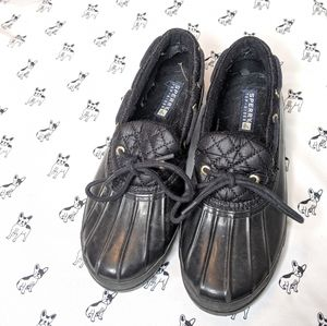 Sperry    Black Saltwater Rain Boot Shoe